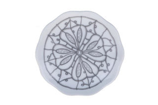 Porcelain Circle Plate - Grey