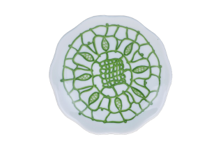 Porcelain Circle Plate - Green