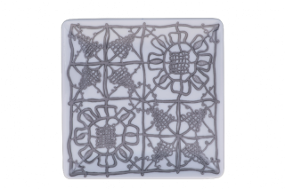 Porcelain Square Plate - Grey