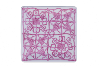 Porcelain Square Plate - Purple