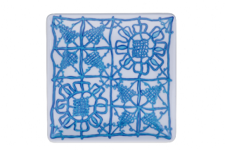 Porcelain Square Plate - Blue