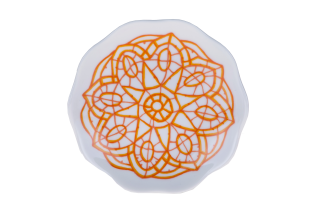 Porcelain Circle Plate - Orange
