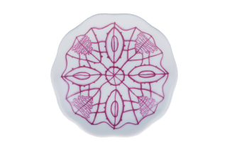 Porcelain Circle Plate - Purple